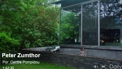Peter Zumthor lecture at the Centre Georges Pompidou