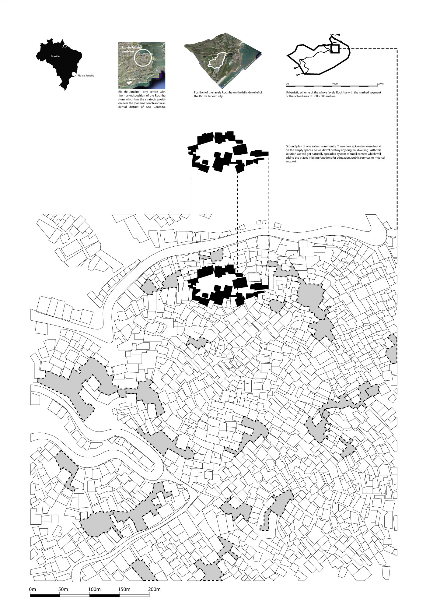 Gallery of regeneration of the favela de rocinha slum for Architecture sites