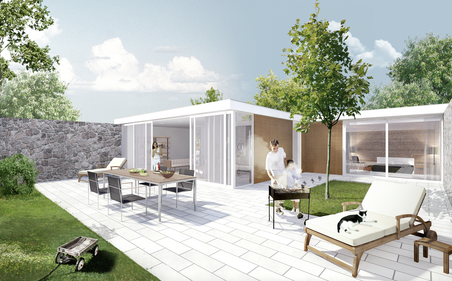 Wonderful Being Home / Being Development,The Patio House