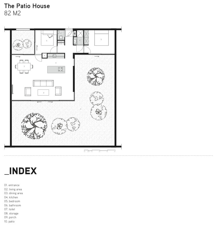 Being home being development archdaily for Patio home floor plans