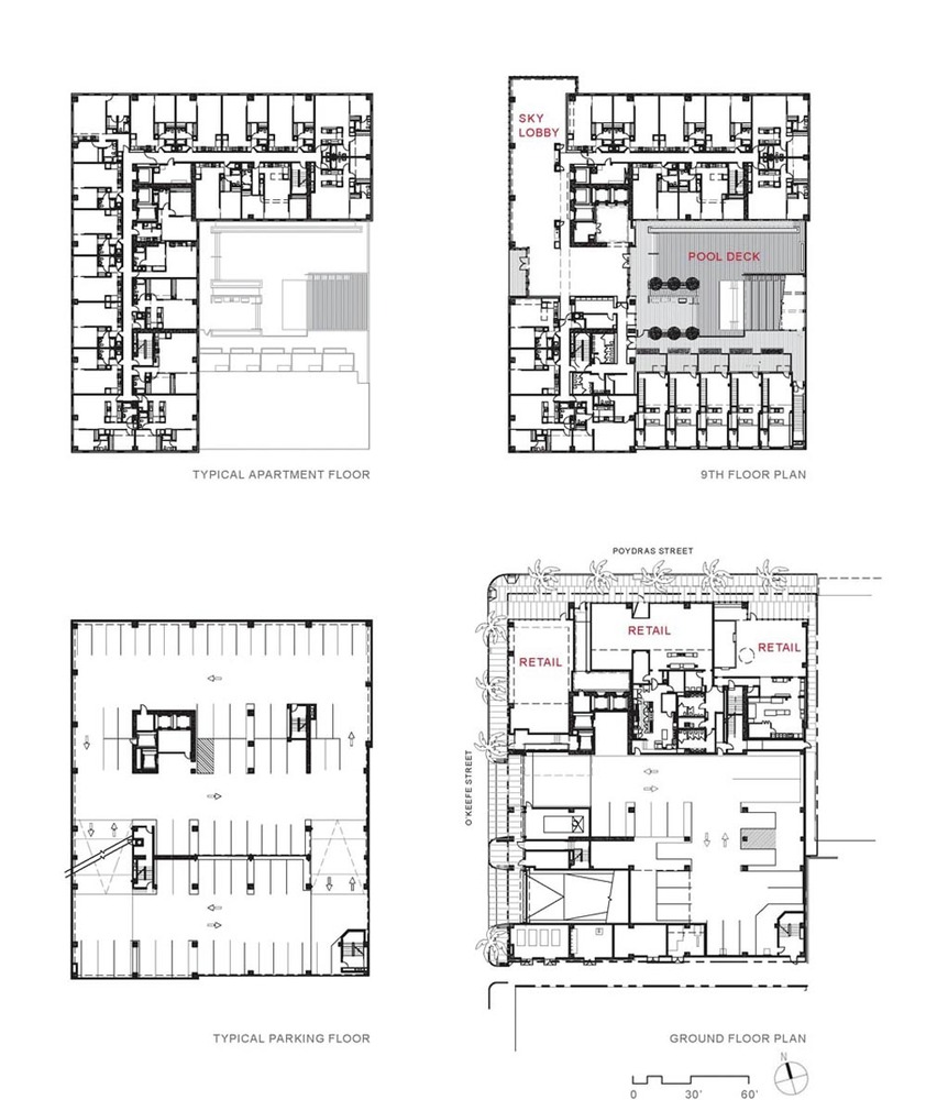 930 poydras residential tower eskew dumez ripplefloor plans