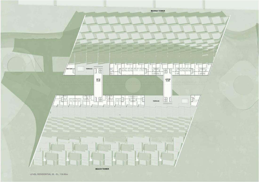 gallery of marina beach towers oppenheim architecture design 4