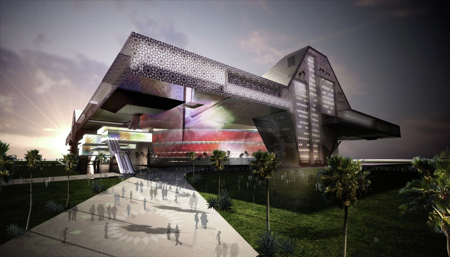 Sports City Stadium for Qatar 2022 / Populous | ArchDaily