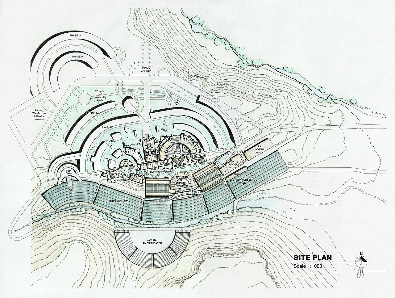 Image result for Arcosanti plan