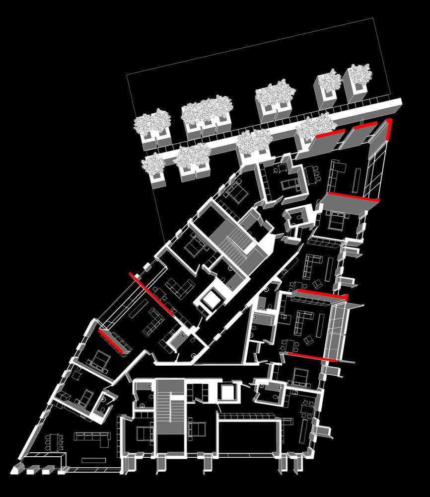 In Progress: Red Apple Apartment Building / Aedes Studio,plan