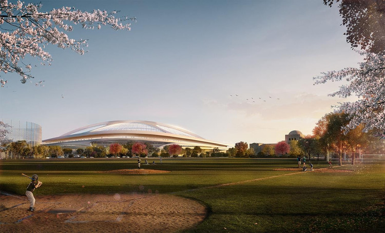 Zaha Hadid Backs Down From Second Tokyo Olympic Stadium Bid, ZHA's New National Stadium proposal. Image © Zaha Hadid Architects