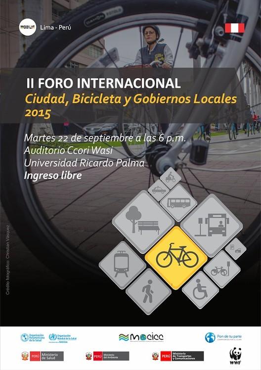 """II Foro Internacional """"Ciudad, bicicleta y gobiernos locales"""" 2015, vía MOBILIS"""