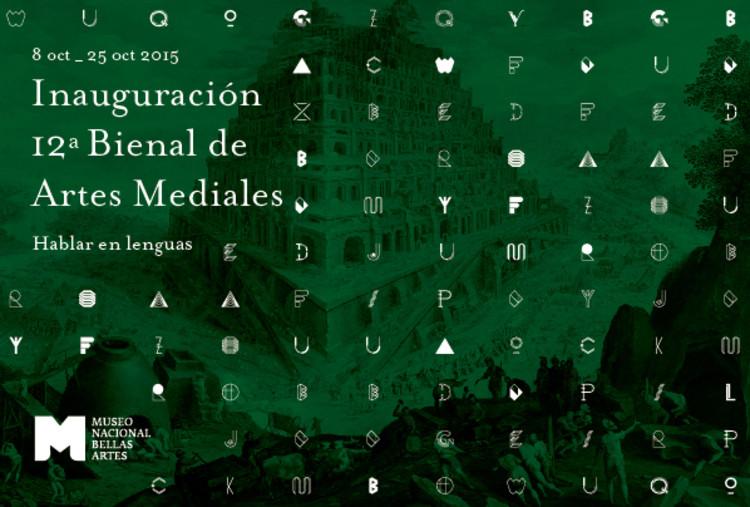 Inauguración 12° Bienal de Artes Mediales / Santiago, diseñado por The Light para Bienal de Artes Mediales