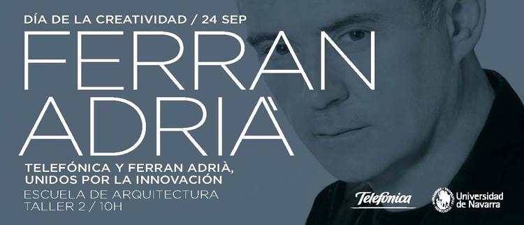Conferencia del chef Ferrán Adriá en la Escuela de Arquitectura de la Universidad de Navarra