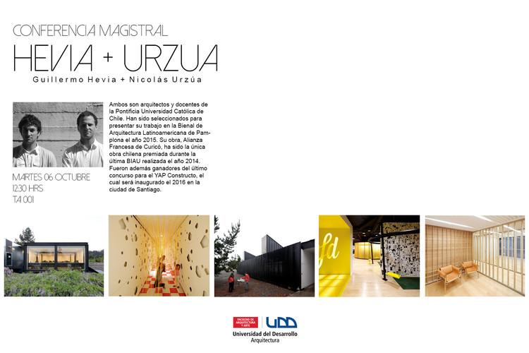 Conferencia 'Hevia + Urzúa Arquitectos' / Concepción, UDD