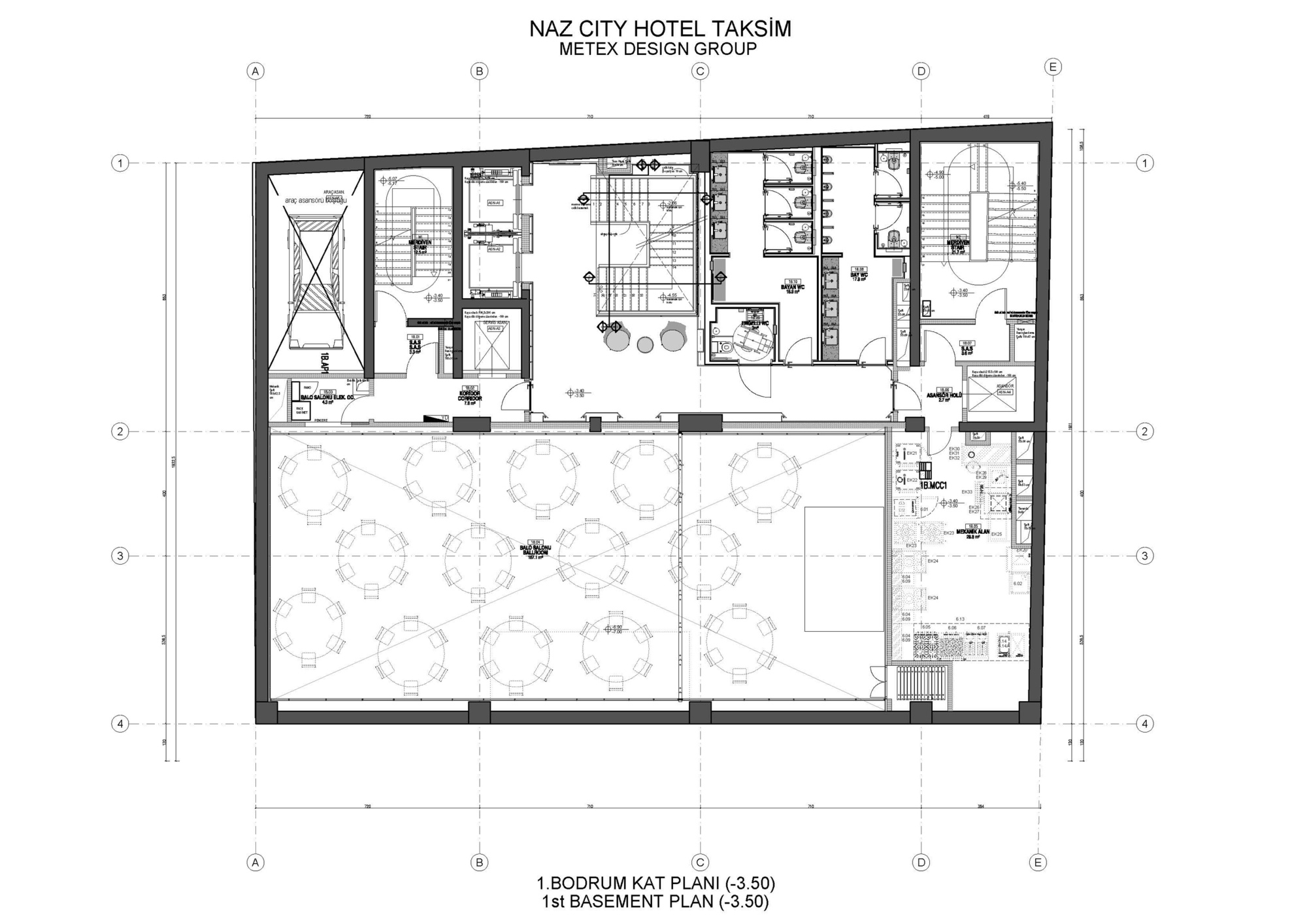 Gallery of naz city hotel taksim metex design group 35 for City hotel design