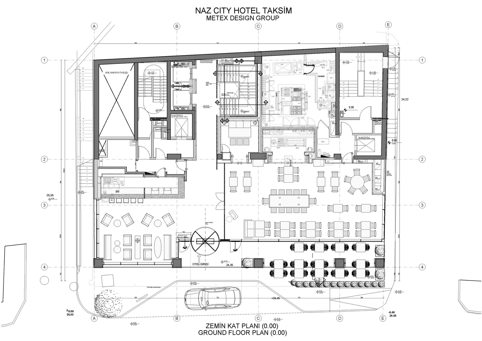 Gallery of naz city hotel taksim metex design group 41 for Hotel plan design