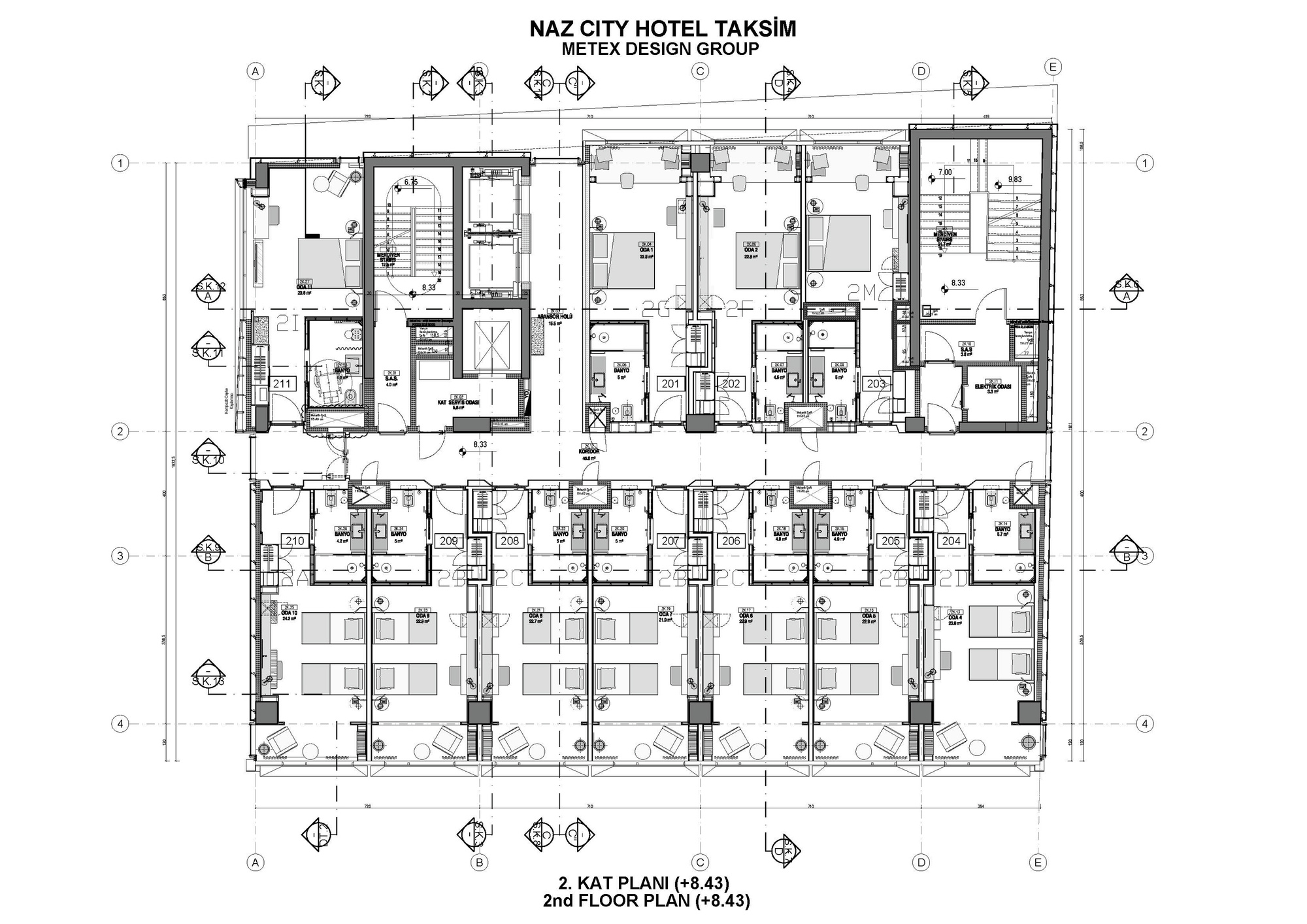 Gallery of naz city hotel taksim metex design group 39 for City hotel design