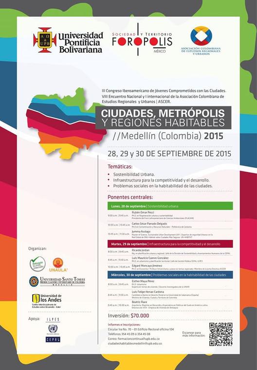 Ciudades Metrópolis y Regiones Habitables / Medellín, vía formación continua upb_medellín