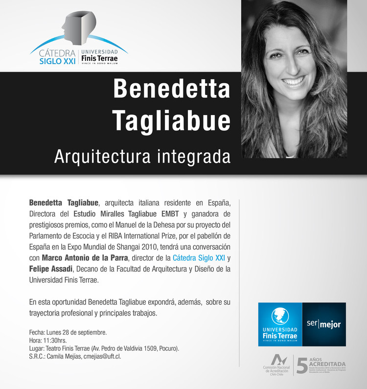 Conferencia de Benedetta Tagliabue: 'Arquitectura integrada' / Santiago