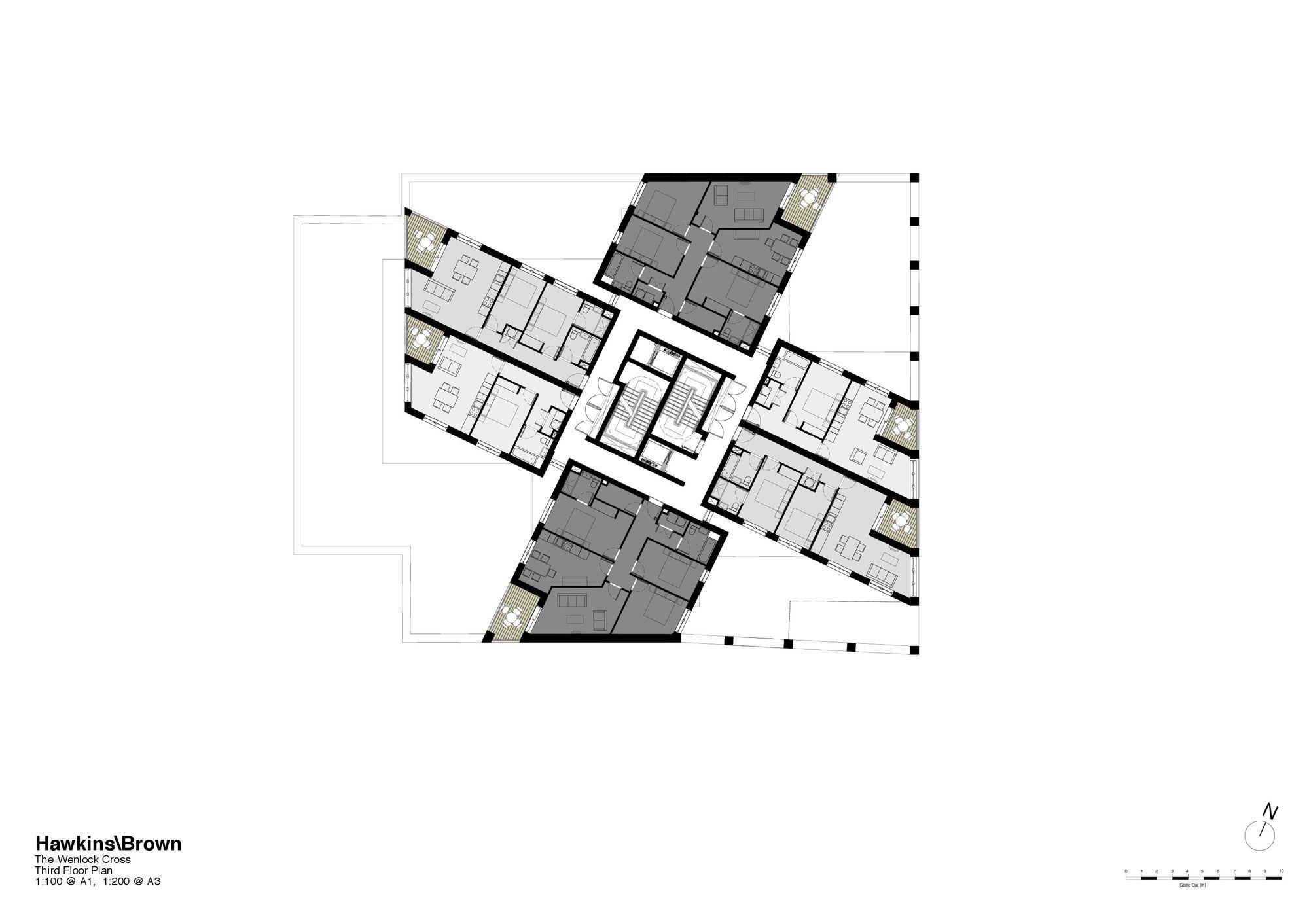 Galer a de el cubo hawkinsbrown 19 for 100 floors 3rd floor
