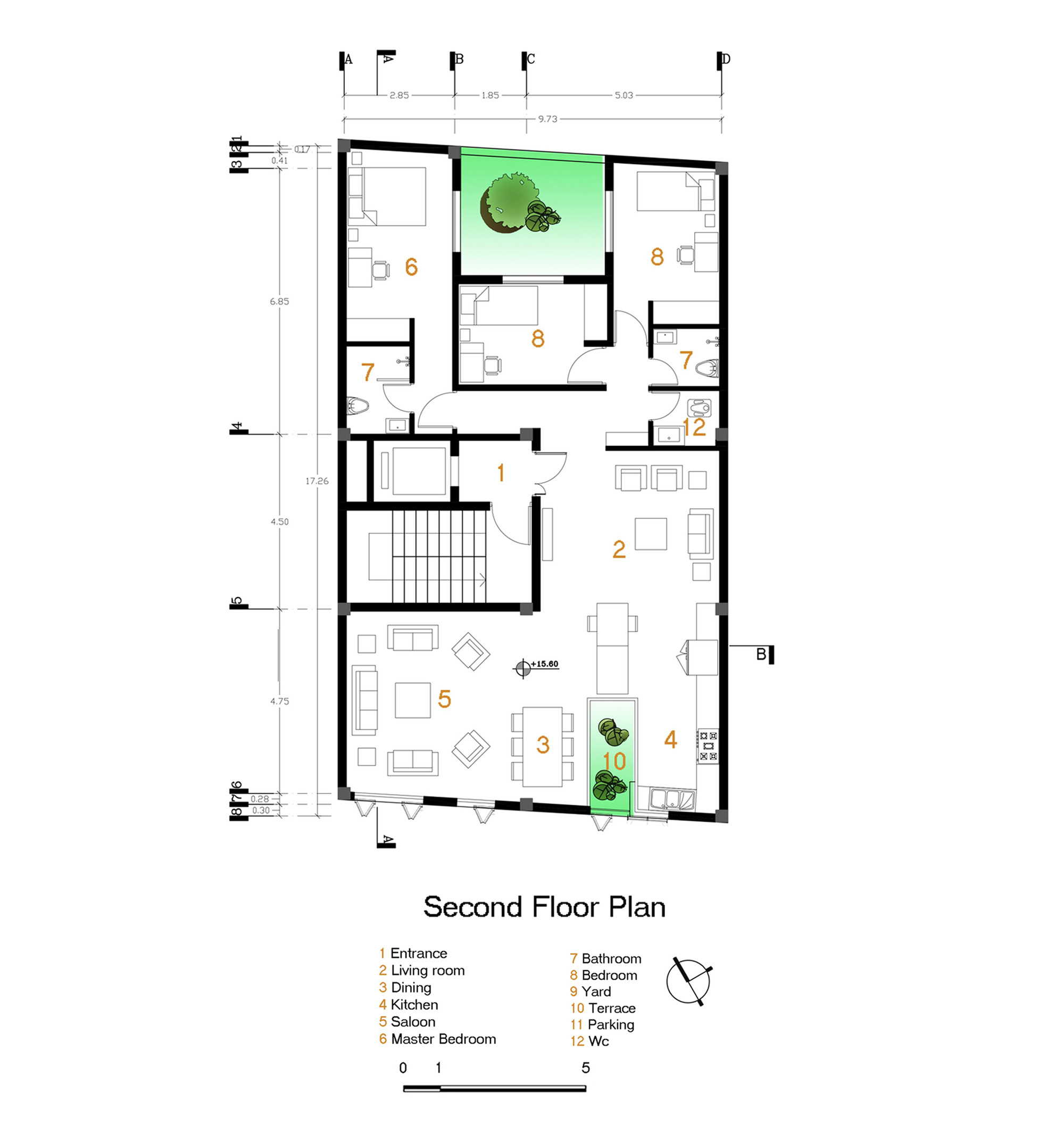Gallery of andarzgoo residential building ayeneh office 14 for Residential house floor plan