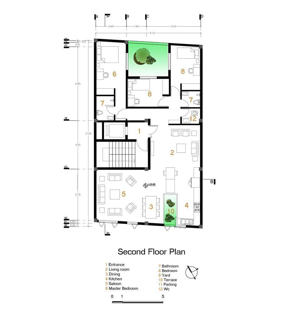 residential plan Gallery of Andarzgoo Residential Building / Ayeneh Office - 14