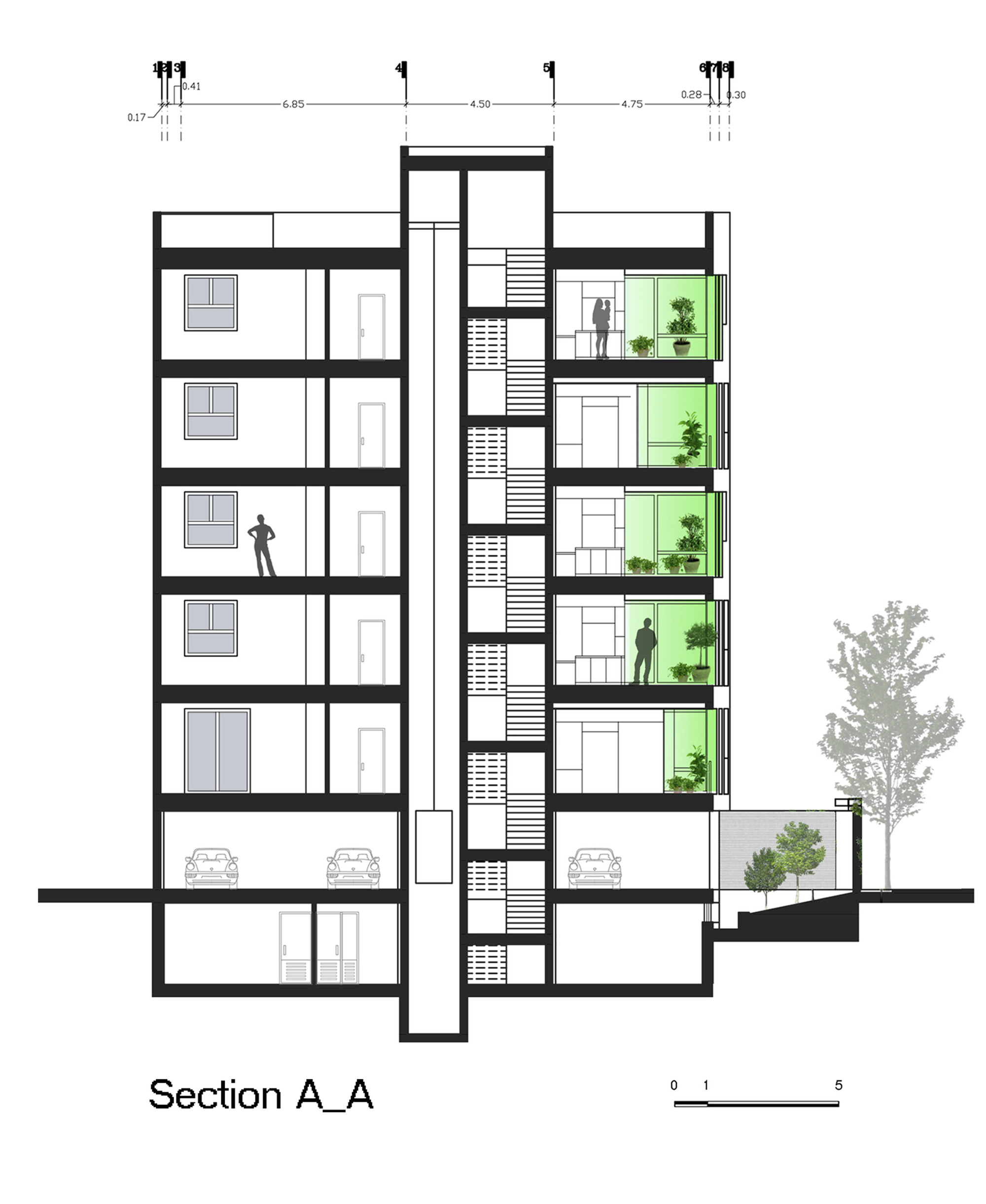 Technical Drawing Floor Plan Gallery Of Andarzgoo Residential Building Ayeneh Office 17