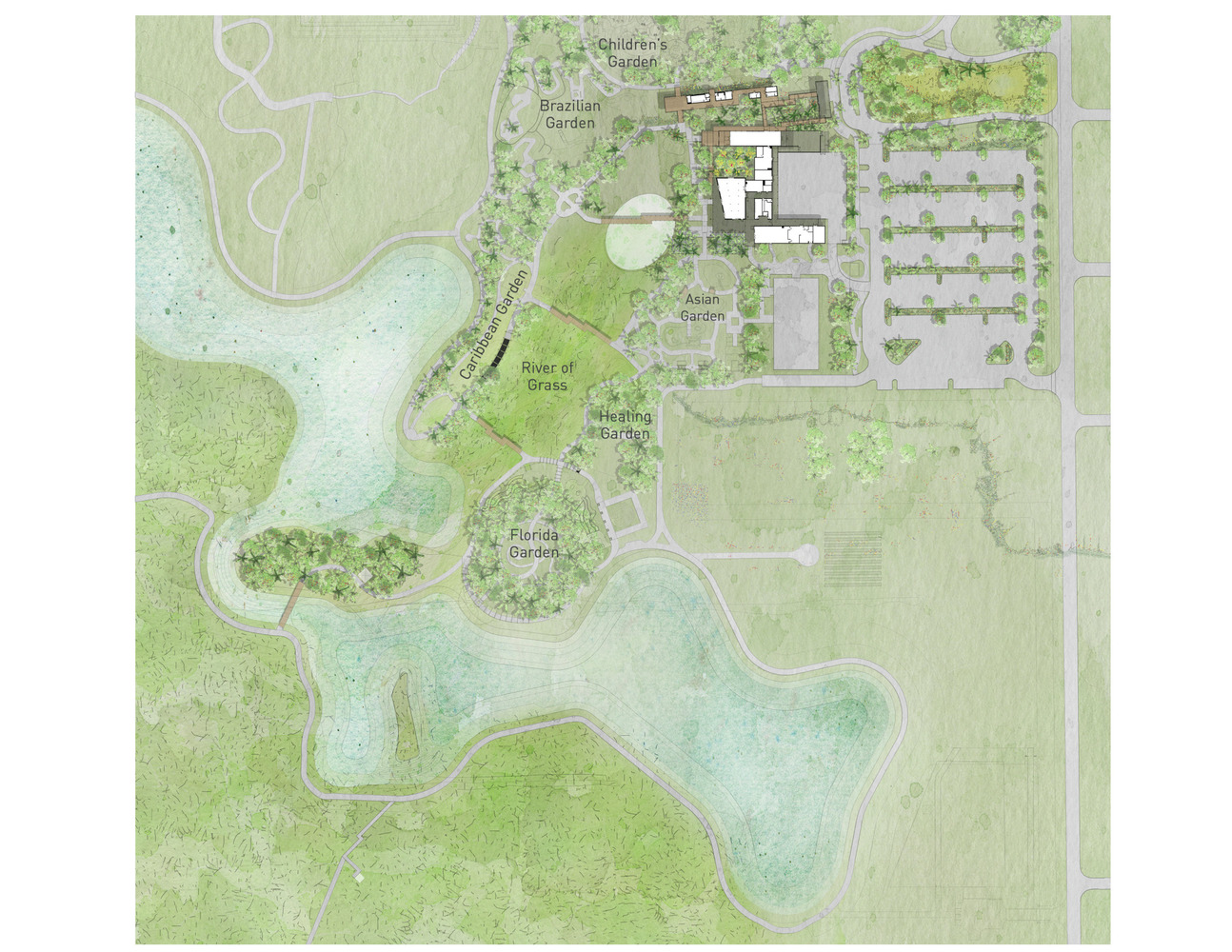 Naples Botanical Garden Visitor Center,Master Plan