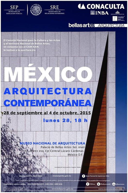 Muestra 'México, Arquitectura Contemporánea´ / Ciudad de México