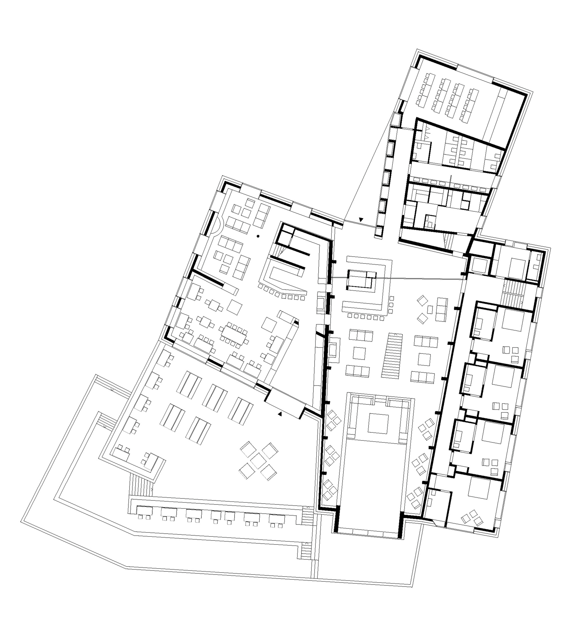 Gallery of chetzeron hotel actescollectifs architectes 30 for Hotel plan design