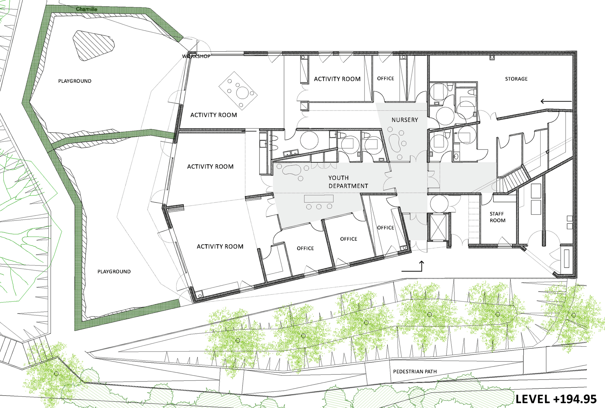 Cultural Center Floor Plan Gallery Of Community Centre In Bill 232 Re Bandapar