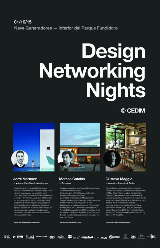 Design Networking Nights ARQ + INT + IND / Monterrey, CEDIM LIVE