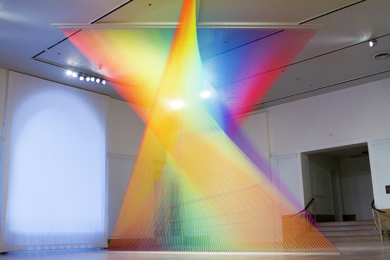 Gallery of Exhibition: The Shape of Light: Gabriel Dawe - 1 for Light Installation Art Indoor  66pct