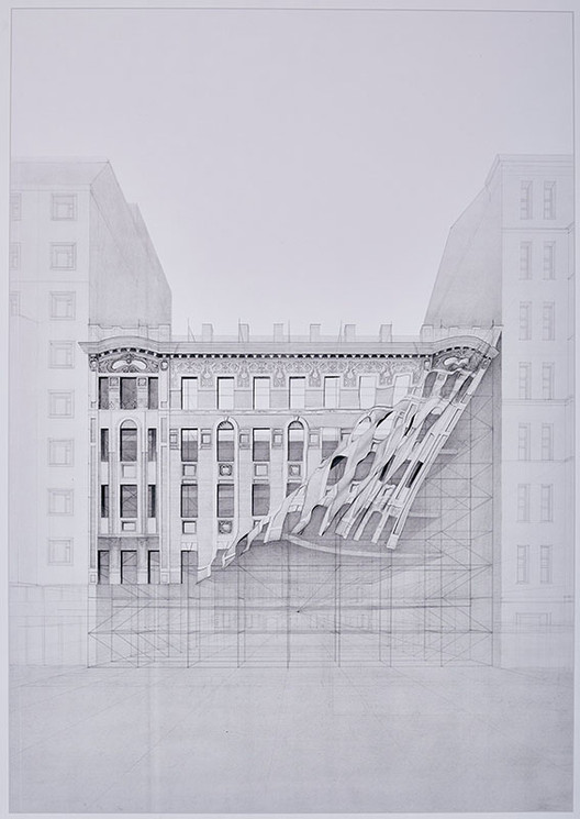 "Chamada de propostas para o concurso ""Drawing of the Year 2015"", Primeiro lugar, ""Drawing of the Year 2014"": Olga Krukovskaya, Rússia. Imagem via Aarhus School of Architecture"