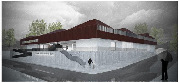GVAA Arquitectos + BV Arquitectos, segundo lugar en concurso para colegio en Angol / Chile, Cortesía de GVAA + BV Arquitectos
