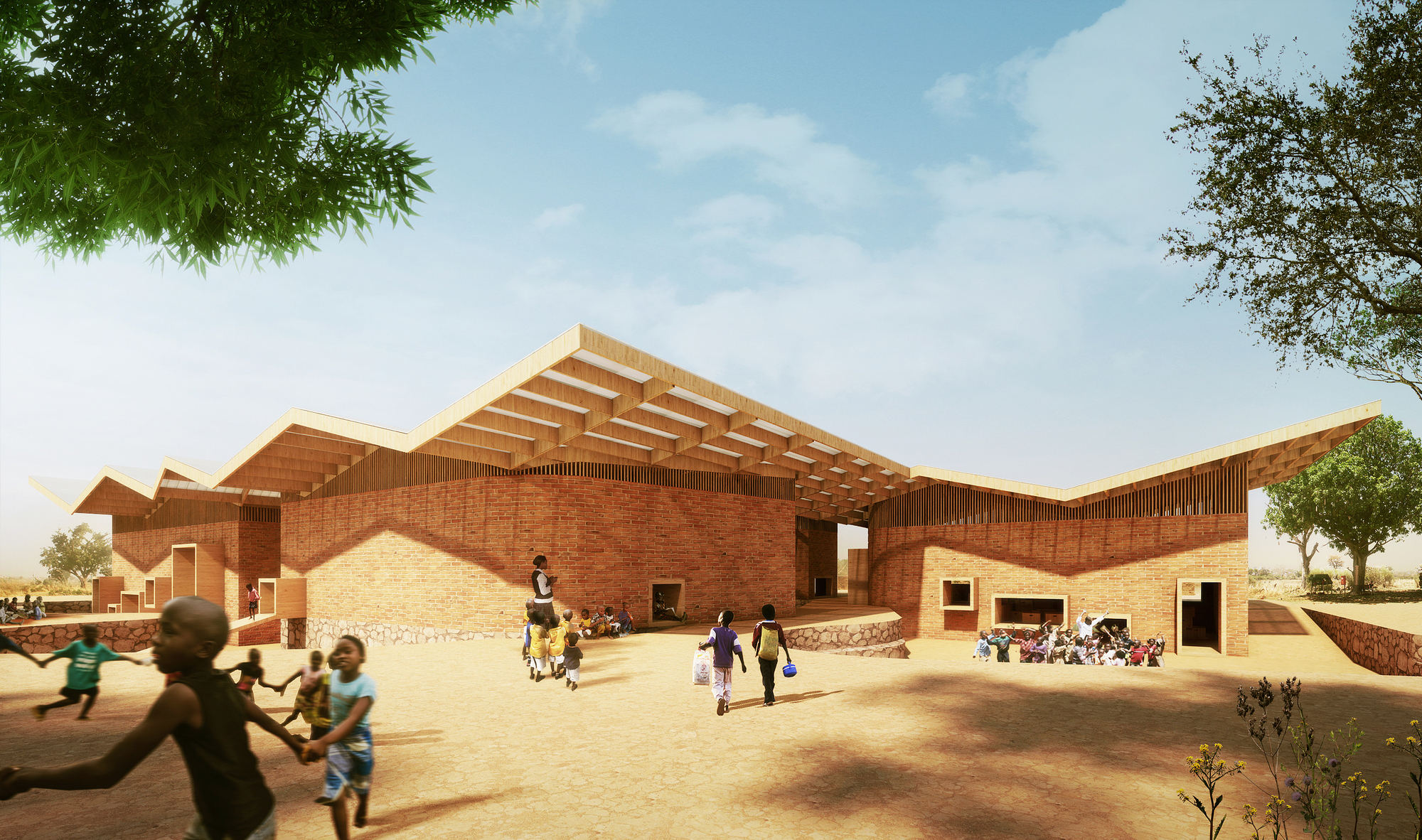 Francis kéré designs education campus for mama sarah obama foundation in kenya archdaily