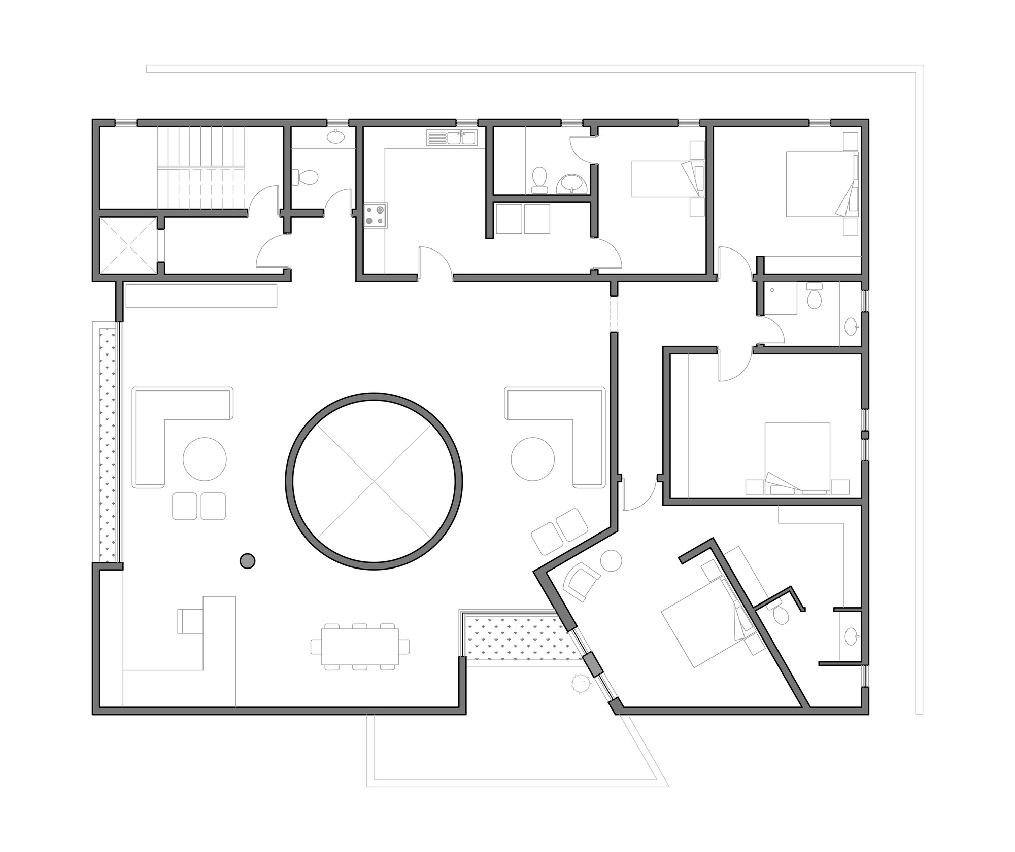5609f88ae58ece0d3d000041 Box House Ii Massive Order Second Floor Plan on Modern Architecture Homes Floor Plans