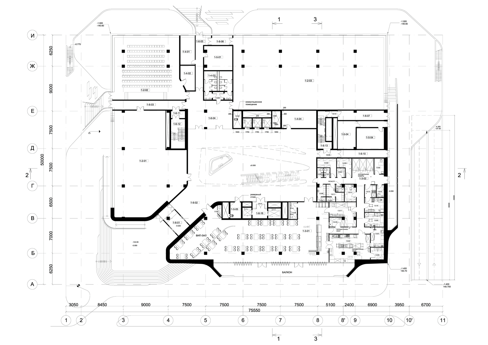 Gallery of dominion office building zaha hadid for Office interior plan