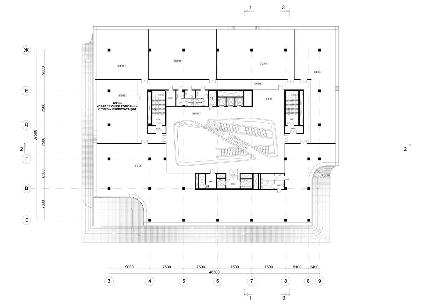 Office space plans Bank Dominion Office Building Zaha Hadid Architects Third Floor Plan Gallery Of Dominion Office Building Zaha Hadid Architects 13