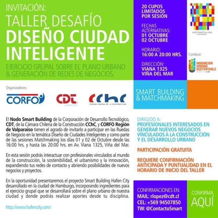 Taller 'Desafío Diseño Ciudad Inteligente' / Viña del Mar, Nodo Smat Building Valparaíso