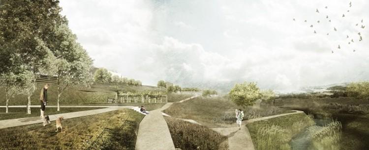 Resultado do concurso para o Parque Urbano de Arruda dos Vinhos , Primeiro Lugar - PARATELIER e Pedro Campos Costa. Image via OASRS