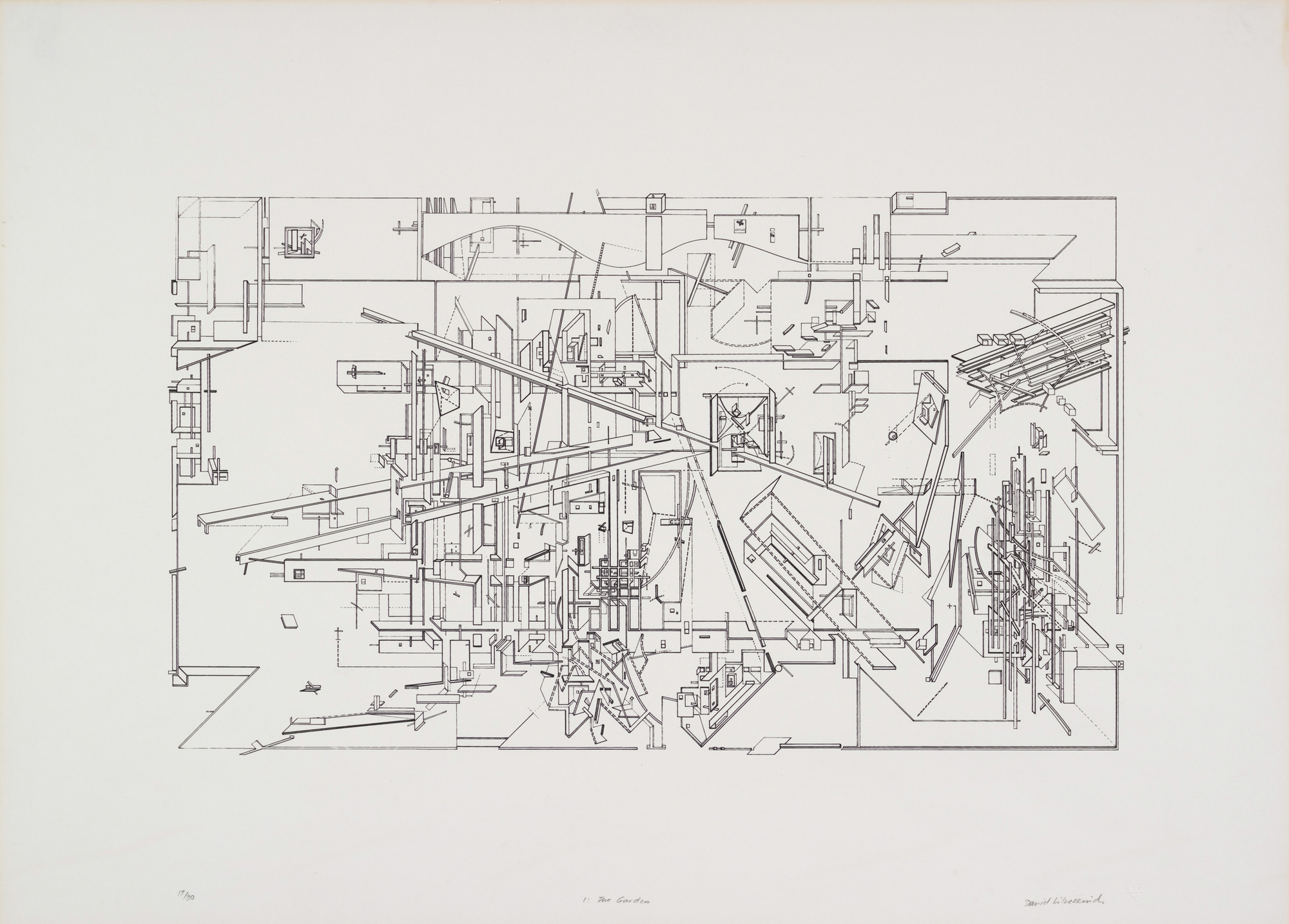 Daniel Libeskind, The Garden, 1979.  Daniel Libeskind. From the Collection  of
