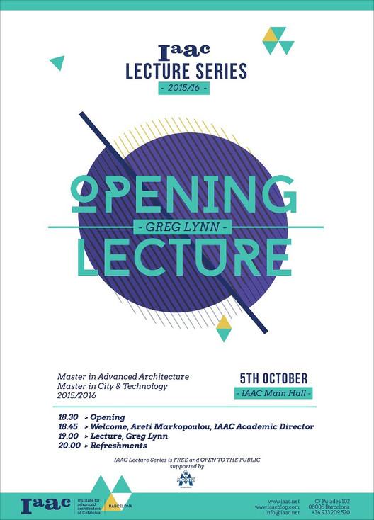Inauguración IAAC Lecture Series 2015/16: Greg Lynn