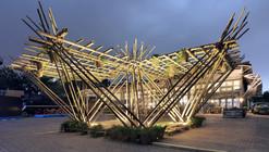 Rising Canes, el pabellón de bambú de Penda en Beijing Design Week