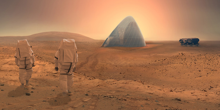 Clouds AO and SEArch Win NASA's Mars Habitat Competition with 3D-Printed Ice House, ICE HOUSE. Image © Clouds AO and SEArch