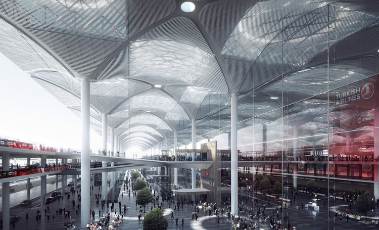 Perkins+Will diseñará una ciudad-aeropuerto en Estambul, Nuevo Aeropuerto de Estambul / Grimshaw, Nordic Office of Architecture and Haptic Architects. Imagen © Grimshaw