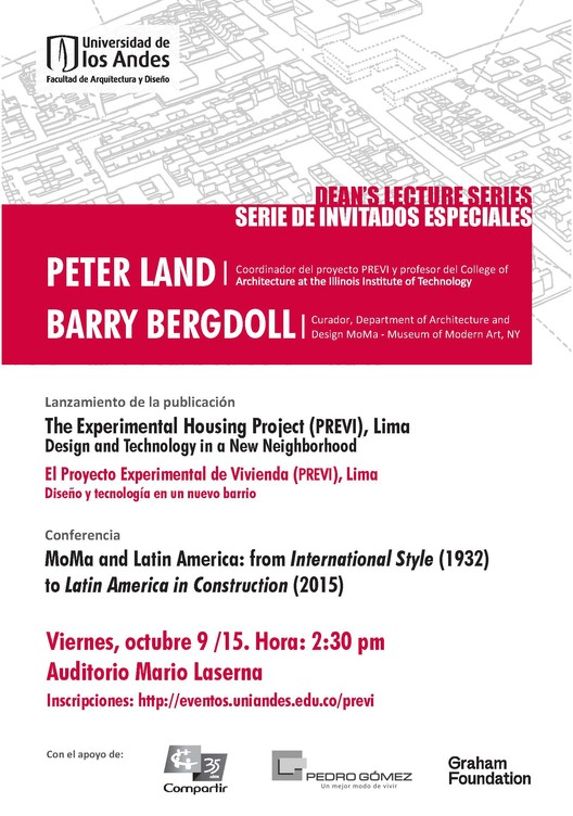 Dean's Lecture Series: Peter Land - Barry Bergdoll / Bogotá
