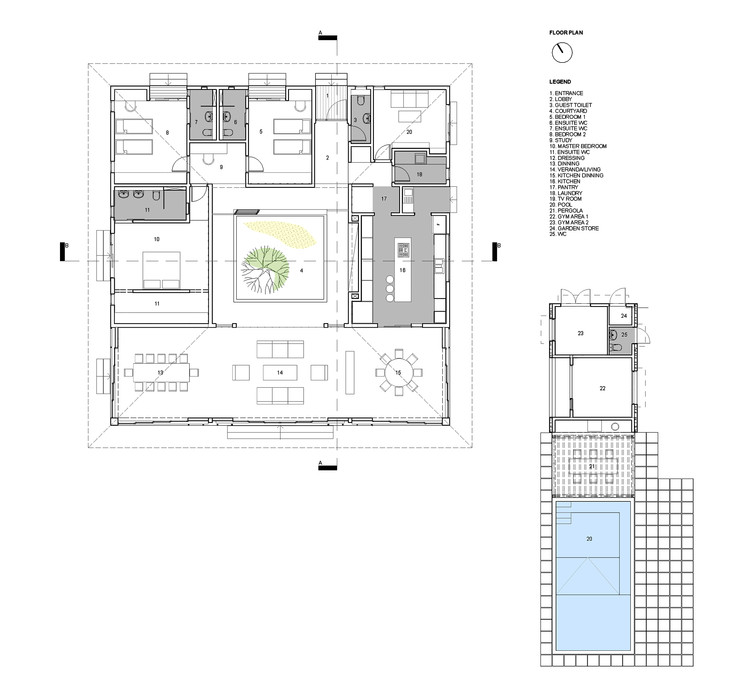 Courtyard House Rethink Studio ArchDaily