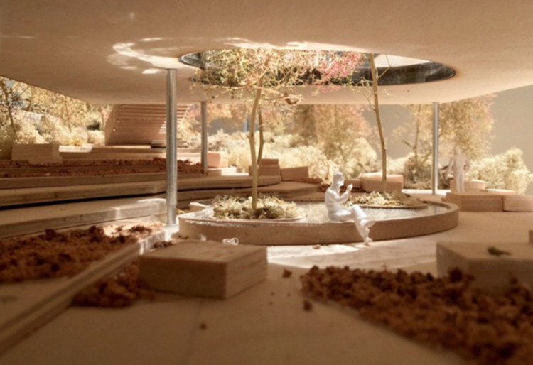 dRMM Submits Plans for a New Maggie's Centre in Oldham, Model of proposed Maggie's Centre in Oldham, UK. Image © dRMM