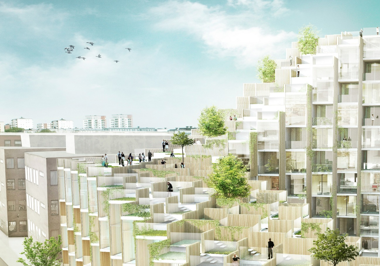 Gallery of BIG Designs New Apartment Building in Stockholm - 6
