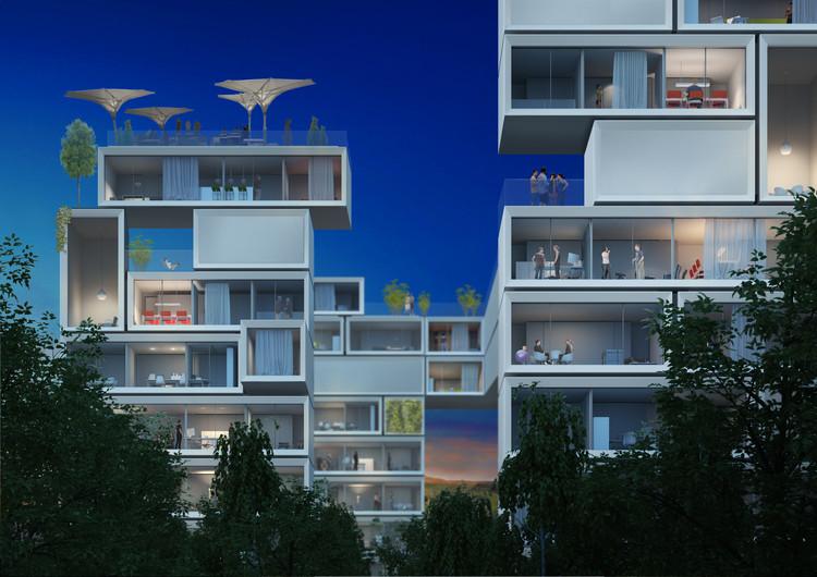 "Werner Sobek Urges for Emissions-Free Cities by 2020, Werner Sobek's vision of an ""electric city"". Image © Werner Sobek Group GmbH"