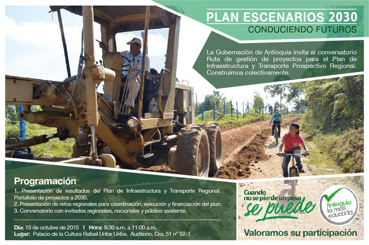Conversatorio Plan de Infraestructura, Transporte y Movilidad para Antioquia 2030 / Medellín