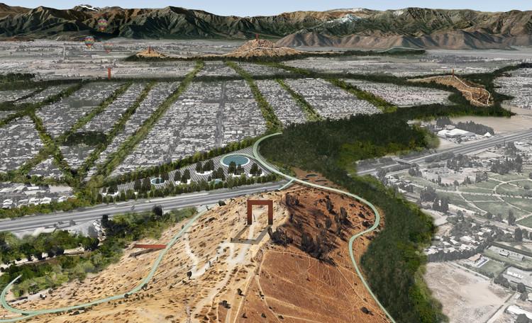 'Quipus verdes: entrelazando naturaleza y sociedad', segundo lugar en Concurso Cerros Isla: Corredor Verde San Bernardo , Imagen objetivo. Image Cortesía de Santiago Cerros Isla