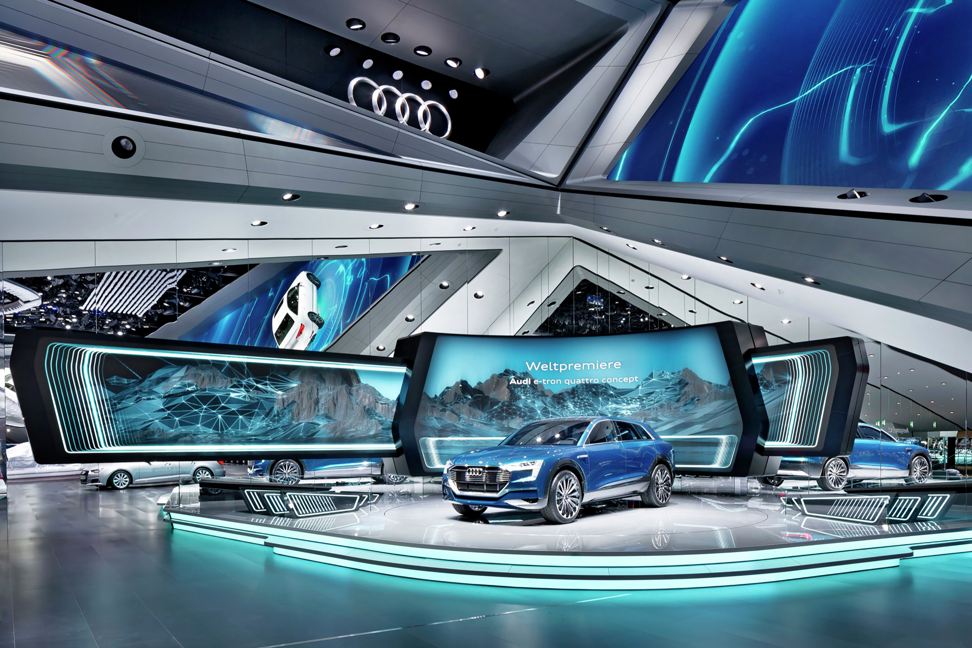 Audi Motor Show SCHMIDHUBER ArchDaily - Exhibition car